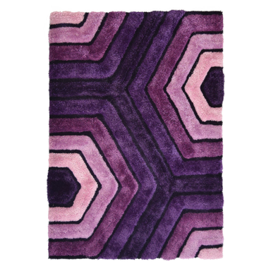 Purple 3D Tides Shaggy Rug - Hawaii | Rug Masters
