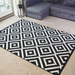 Black Geometric Diamond Rug - Texas | Rug Masters