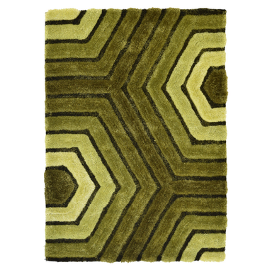 Green 3D Tides Shaggy Rug - Hawaii | Rug Masters
