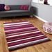 Purple Striped Rug | Rug Masters | Free UK Delivery