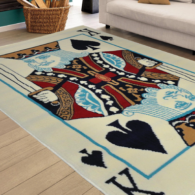 King Of Spades Rug | Rug Masters | Free UK Delivery