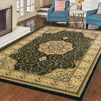 Green Victorian Rug - Washington | Rug Masters