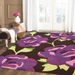Purple Floral Rug | Rug Masters | Free UK Delivery