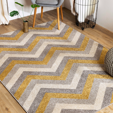 Gold Chevron Rug | Rug Masters | Various Sizes Available