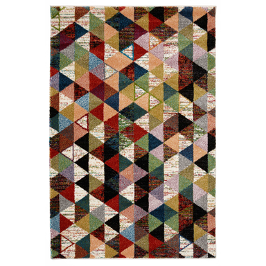 Multicoloured Geometric Rug | Rug Masters | Free UK Delivery