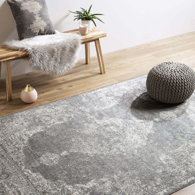 Grey Silk Rug | Rug Masters | Free UK Delivery