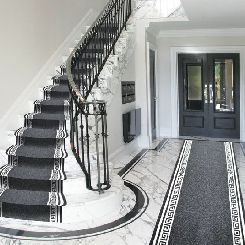 Black Stair Runner | Rug Masters | Custom Sizes Available