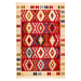 Red Marrakesh Fringed Motif Rug - Texas | Rug Masters
