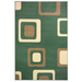 Green Boxed Pattern Rug - Texas | Rug Masters