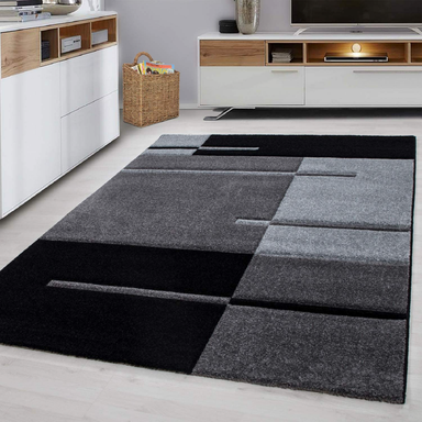 Grey Abstract Rug | Rug Masters | Free UK Delivery