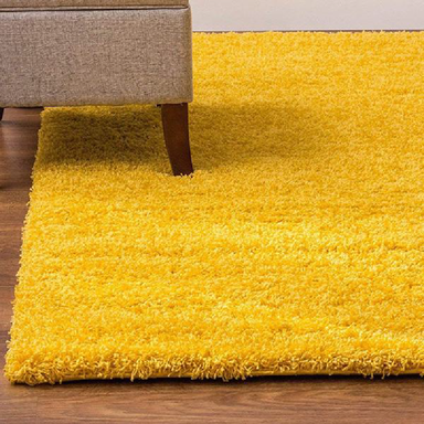Mustard Shaggy Rug | Rug Masters | Free UK Delivery