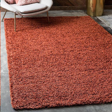 Terracotta Shaggy Rug | Rug Masters | Free UK Delivery