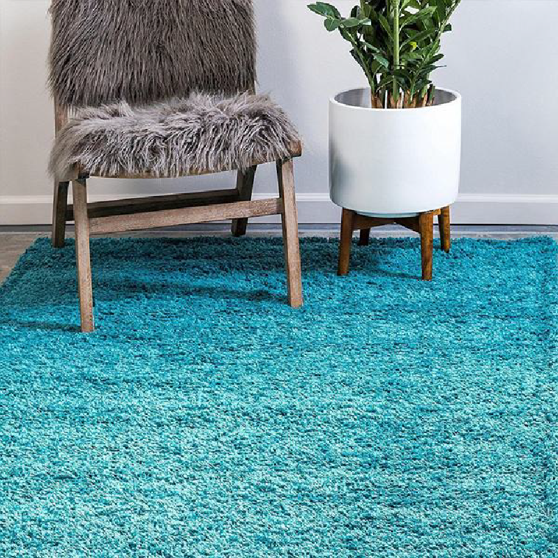 Teal Shaggy Rug | Rug Masters | Free UK Delivery