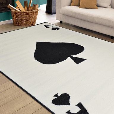 Ace Of Spade Print Rug - Texas | Rug Masters
