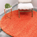 Circle Plain Circle Shaggy Rug - Orange Shaggy Rug | Rug Masters | Free UK Delivery - Rug Masters