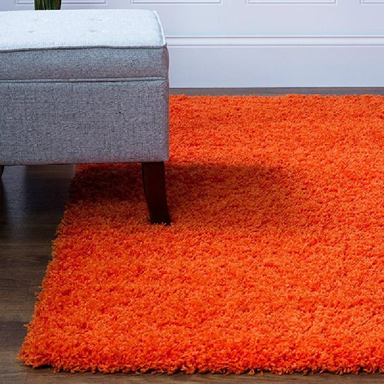 Orange Shaggy Rug | Rug Masters | Free UK Delivery