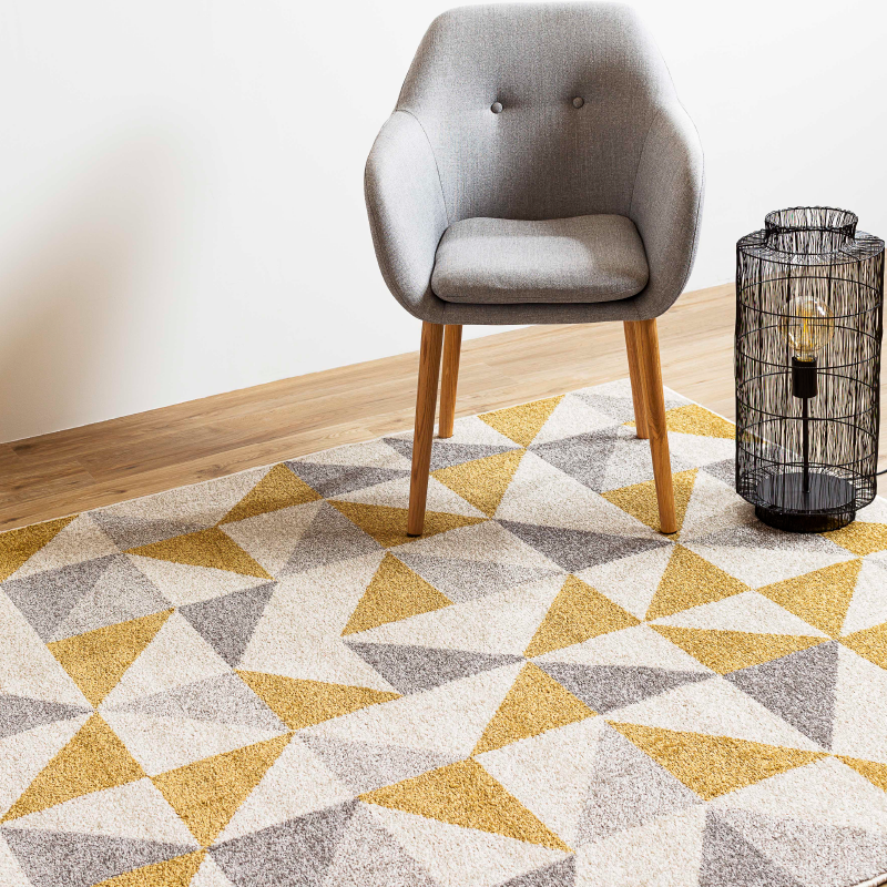 Gold Prism Rug | Rug Masters | Various Sizes Available