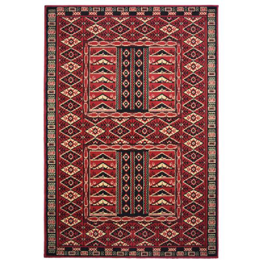 Red Traditional Hazara Rug - Texas | Rug Masters