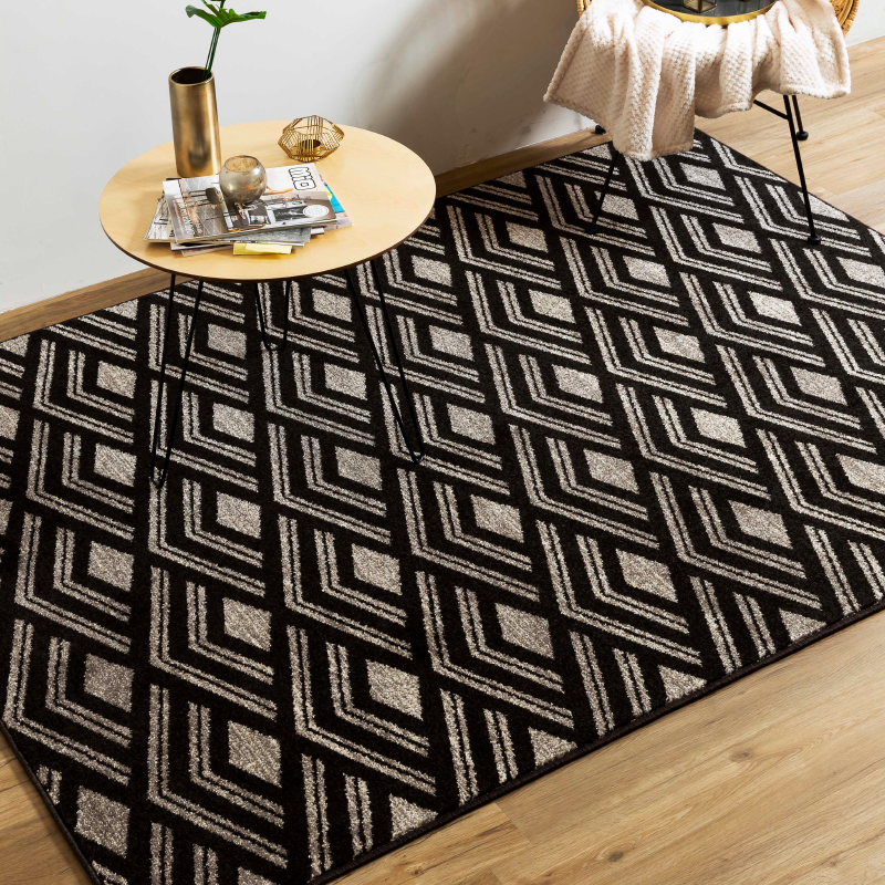 Brown Chevron Rug | Rug Masters | Various Sizes Available
