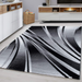 Black Abstract Rug | Rug Masters | Free UK Delivery