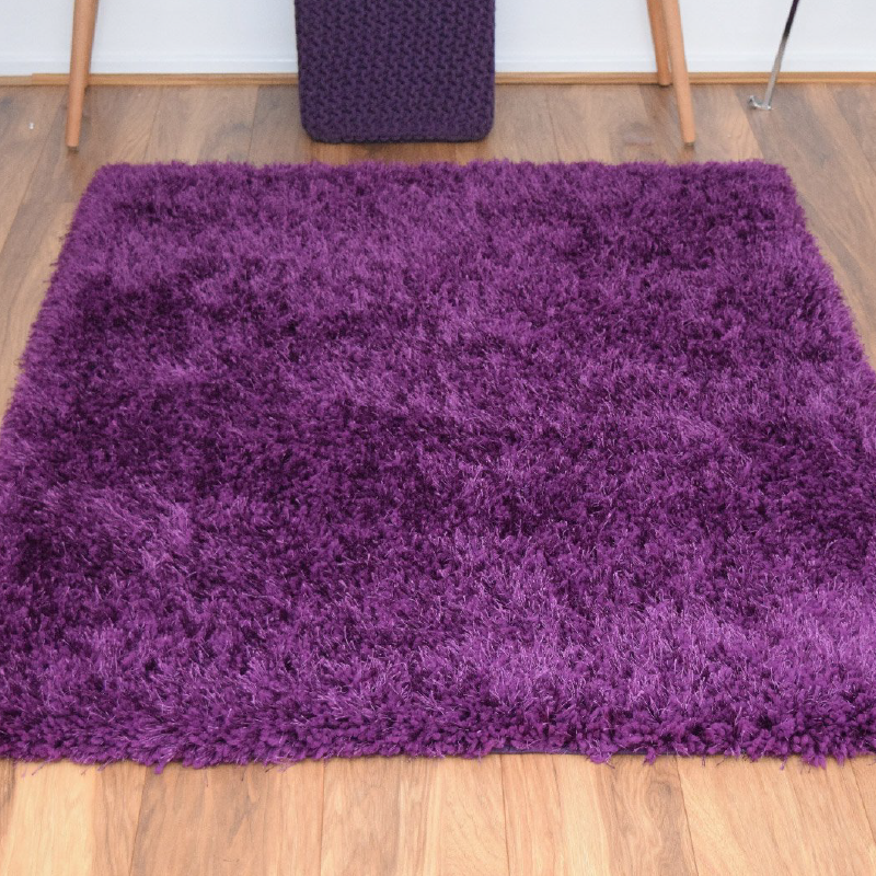 Purple Shaggy Rug | Rug Masters | Range Of Sizes Available
