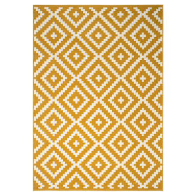 Yellow Geometric Rug | Rug Masters | Free UK Delivery