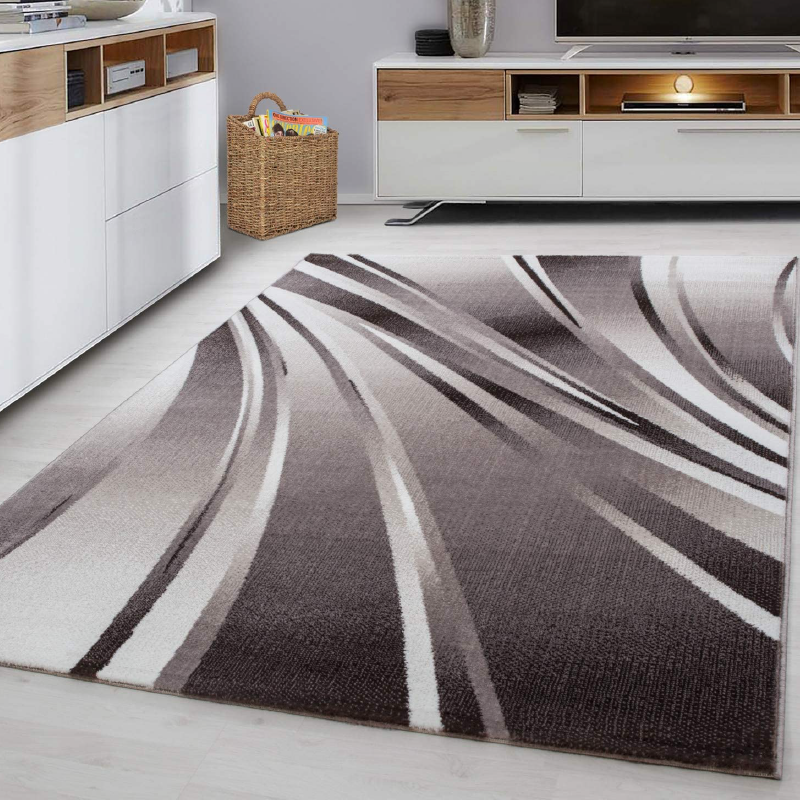 Brown Abstract Rug | Rug Masters | Free UK Delivery
