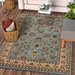 Blue Traditional Floral Rug - Virginia - Rug Masters