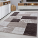 Brown Checked Rug | Rug Masters | Free UK Delivery