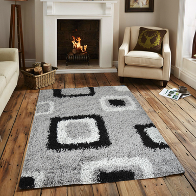 Grey Shaggy Rug | Rug Masters | Range Of Sizes Available