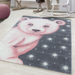Pink Bear Rug | Rug Masters | Kids Rugs And Mats