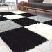 Checked Shaggy Rug | Rug Masters | Range Of Sizes Available