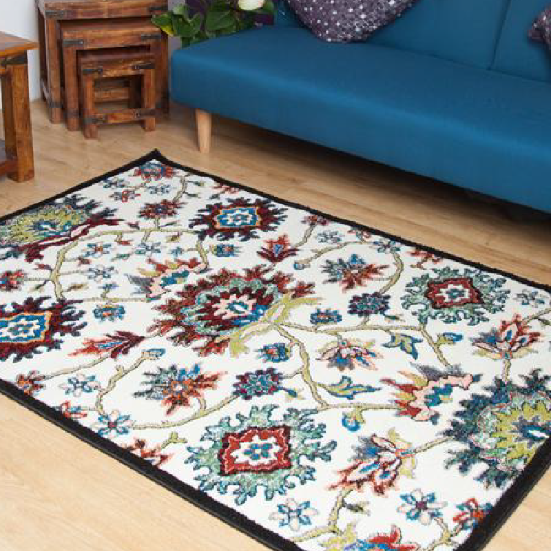 Cream Floral Rug | Rug Masters | Free UK Delivery