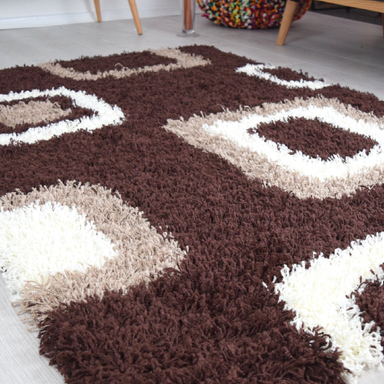 Brown Shaggy Rug | Rug Masters | Range Of Sizes Available