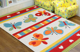 Butterfly Multi Colour Children Rug - Rug Masters