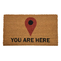 Goa Coir Mat - You Are Here - Rug Masters