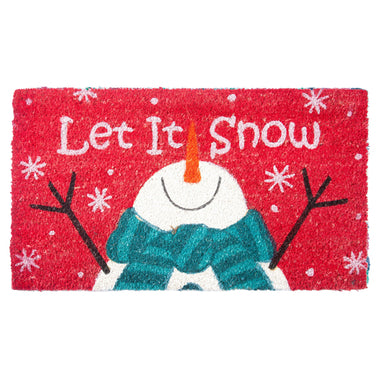 Xmas Coir Mat Let It Snow - Rug Masters