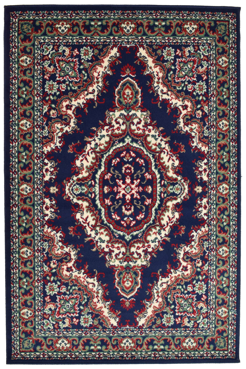 Medallion Navy Traditional Rug - Rug Masters