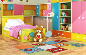Smile Multi Colour Children Rug - Rug Masters