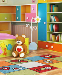 Multi Colour Smile Children's Rug