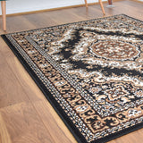 Medallion Black Traditional Rug - Rug Masters