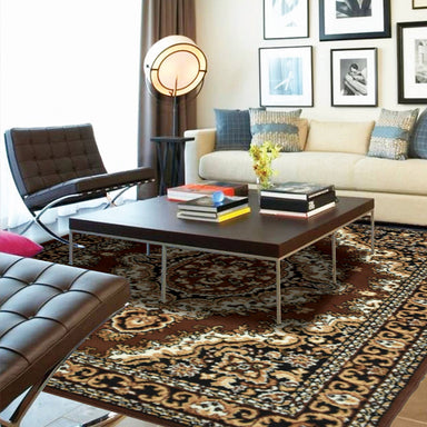 Medallion Brown Traditional Rug - Rug Masters