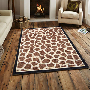 Giraffe Animal Print Rug