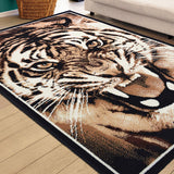 Tiger Roar Animal Print Rug - Rug Masters