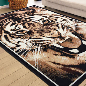 Tiger Roar Animal Print Rug