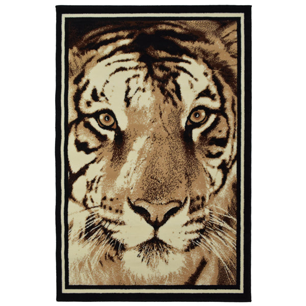 Tiger Face Animal Print Rug - Rug Masters