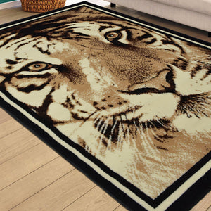 Tiger Face Animal Print Rug