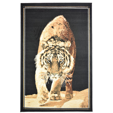 Tiger Walking Animal Print Rug - Rug Masters