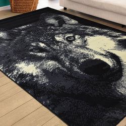 Wolf Face Animal Print Rug - Rug Masters