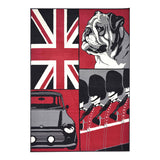 British Bulldog Collage Flag Print Rug - Rug Masters